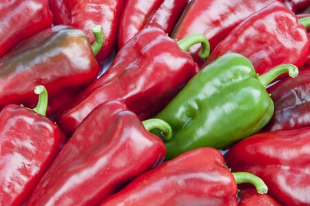 A group  of Red and Green Peppers