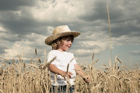 Boy in a field Stock Photo - 10718782