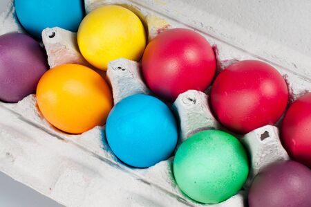 Easter eggs in a bark for eggs Stock Photo - 11913156