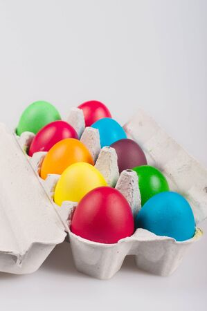 Easter eggs in a bark for eggs Stock Photo - 11913151