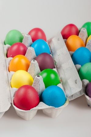 Easter eggs on a white bachground Stock Photo - 12353515