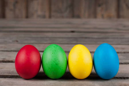 Easter eggs in  a row Stock Photo - 12673719