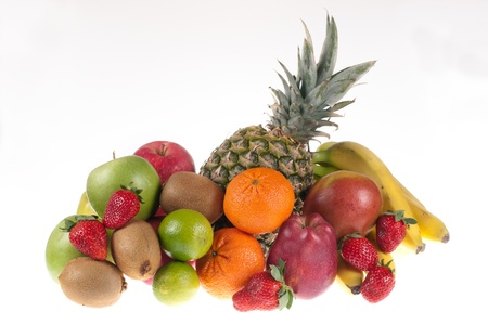 Fruits on a white background photo
