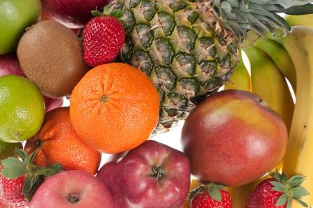Different kind of fruits-studio shot photo