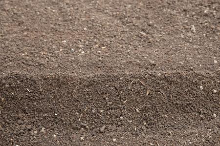humus: Soil- humus soil, selective focus on front heap
