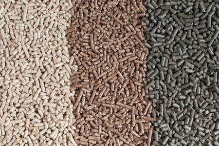 Different kind of pellets- oak, sunflower, pine