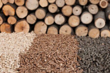 briquettes: Different kind of pellets- oak, pine,sunflower