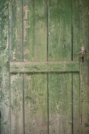Part of old woodn door photo