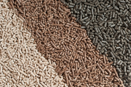 Three  kind of pellets in a row