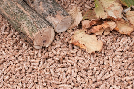 Oak pellets and materials pellets made photo