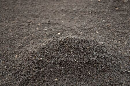 Heap of soil-color image- selective focus on the heap Stock Photo - 17234333