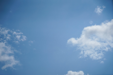 Bright summer light blue sky background with free form floating white cloud as per imagination on sunshine day, Turkey 스톡 콘텐츠