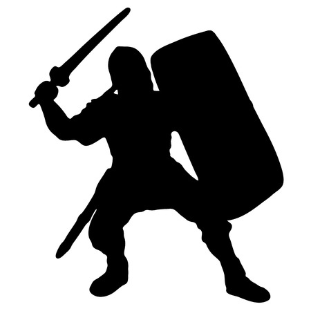 warriors: Medieval warrior knight with sword