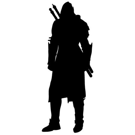 Medieval warrior knight Vetores