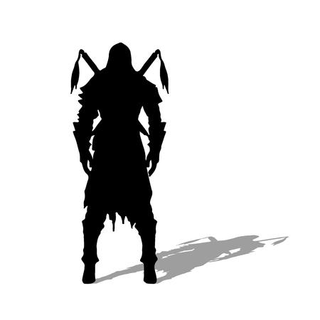 Medieval warrior knight