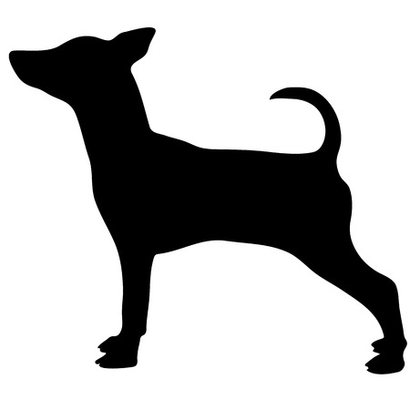 Silhouette of a dog.Vector illustration of doberman pinscher.