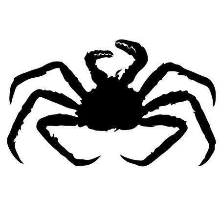 crawfish: crab silhouette