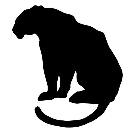 白い背景に虎のシルエット