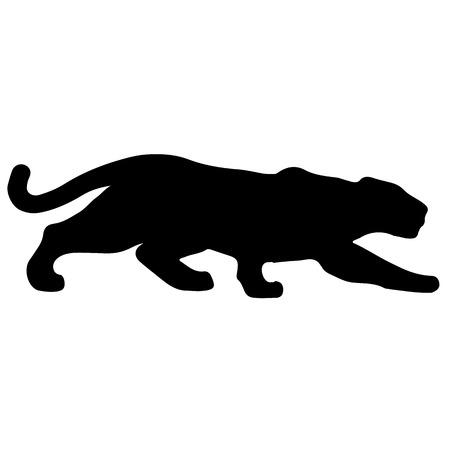 犠牲者までゾッと黒豹  イラスト・ベクター素材