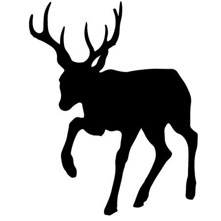 dier black silhouette vector illustrastion of animal