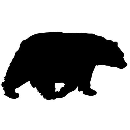 black vector bear silhouette