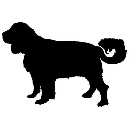 labrador retriver silhouette vector
