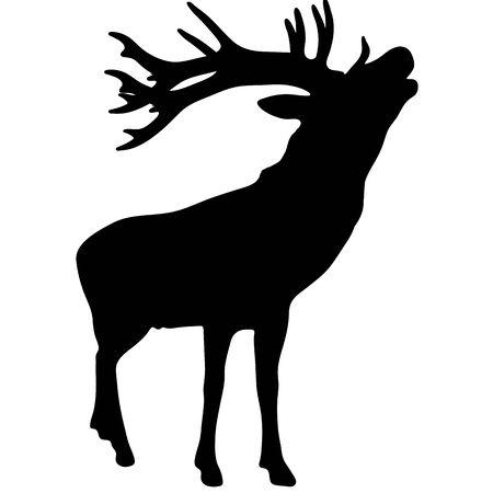 動物のダイアブラックシルエットベクトルイラストレーション