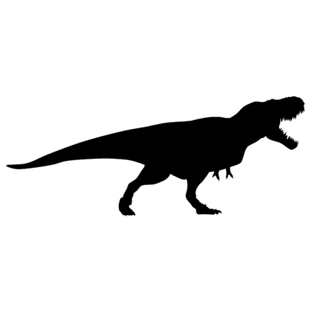 raptor silhouette black vector illustration Ilustrace