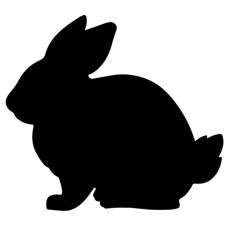 Rabbit black silhouette vector illustration Ilustrace