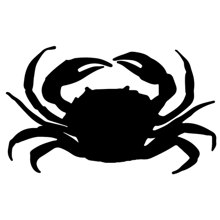 vector illustration of a crab silhouette