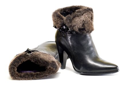 Women shoes with fur