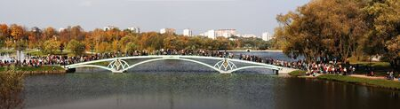 Foot bridge. Moscow. Park Tsaritsino.
