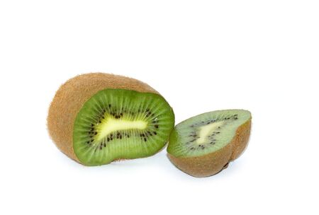 Green juicy fruit kiwi. Part.
