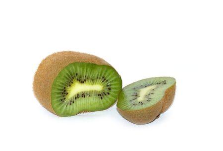 Green juicy fruit kiwi. Part.