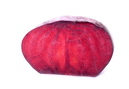 One head of red beet.