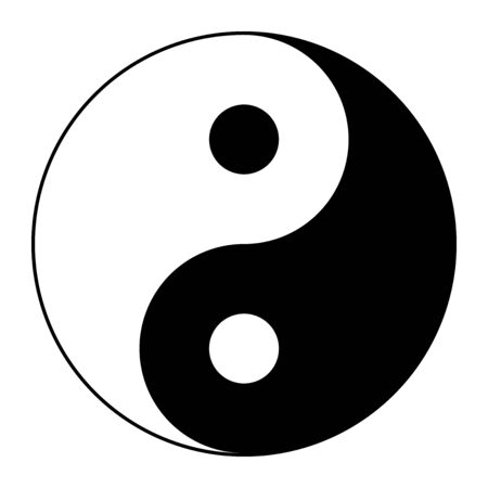 Tai Ji, symbol of Yin and Yang, according to the taoists Illustration