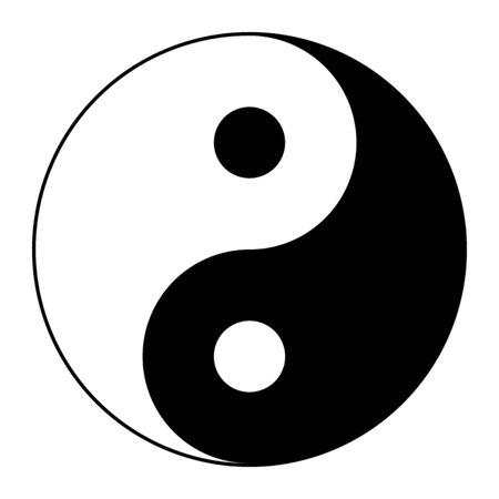 Tai Ji, symbol of Yin and Yang, according to the taoists Stock Vector - 134454399