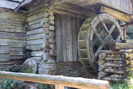 water mill: Ancient water mill made of wood and stone