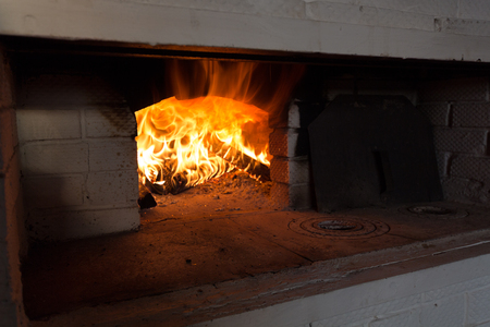 hearth and home: Russian oven and fire in it