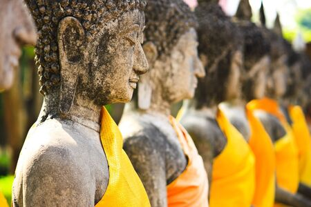 Buddha statue and Decorative photo