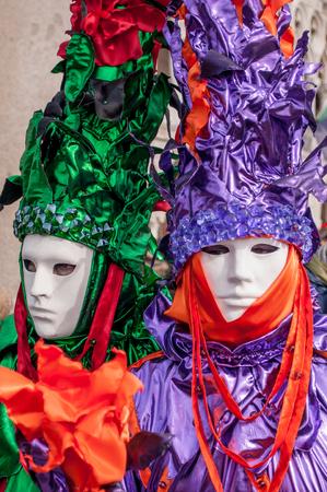 Green purple orange venice mask costume