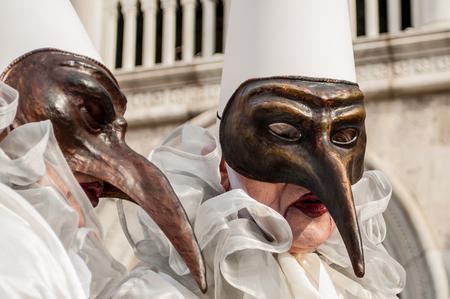 Brown venice mask costume