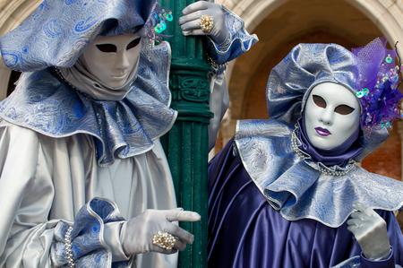 Purple venice mask costume