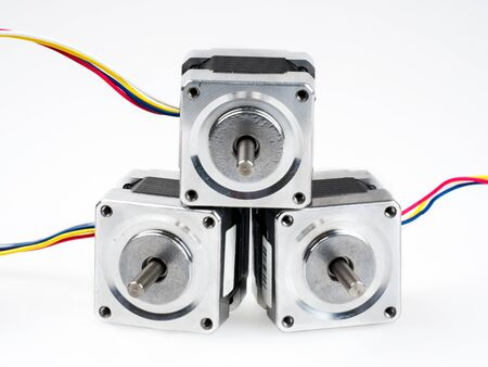 Stepper motors are brushless DC electric motor that divides a full rotation into a number of equal steps. They have a huge range of applications, from printers to CNC machines.