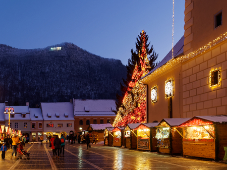 From the end of November until Christmas, Piata Sfatului in Brasov transforms into a magical Christmas market.