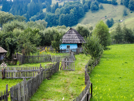 Old traditional house in Bucovina, Romania