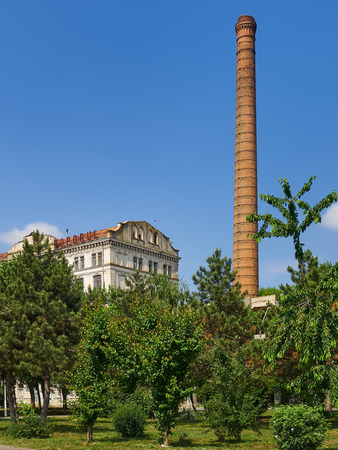 Braila, Romania - May 20, 2018: The Violattos flour mill in Braila, Romania was built by Anghel Saligny in 1898  was the largest steam – powered flour mill in Eastern Europe.