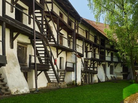 Hive dwellings, fortified church in Prejmer, Romania