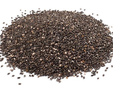Small pile of chia seeds (Salvia hispanica)