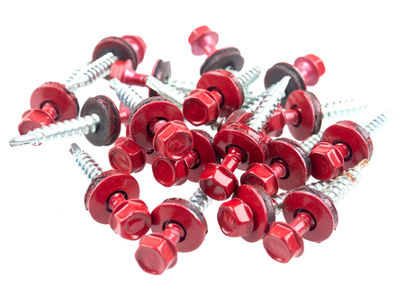 Galvanized self drilling screws with hexflange head and EPDM washers used for roofing